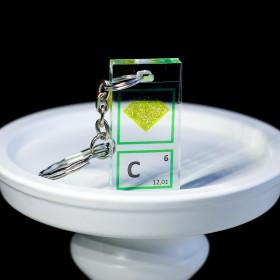 Węgiel / diament brelok do kluczy