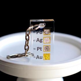 Zestaw metali szlachetnych brelok do kluczy
