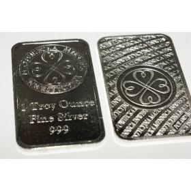 Sztabka srebra 999 - 1 Uncja